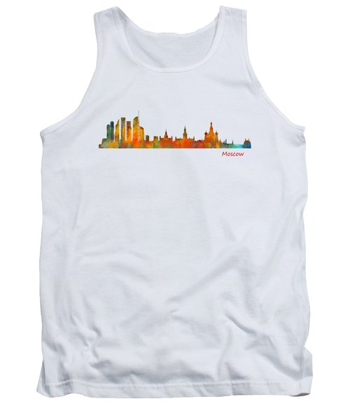 Moscow City Skyline Hq V1 Tank Top