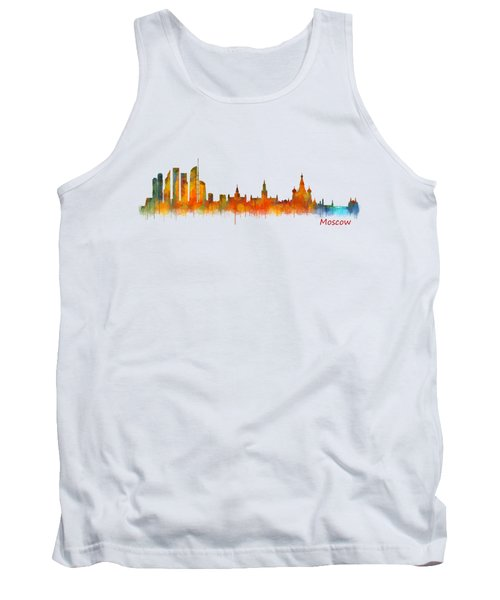 Moscow City Skyline Hq V2 Tank Top