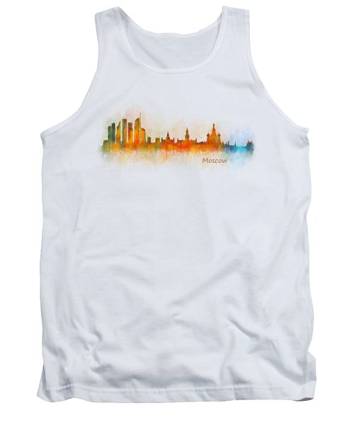Moscow City Skyline Hq V3 Tank Top