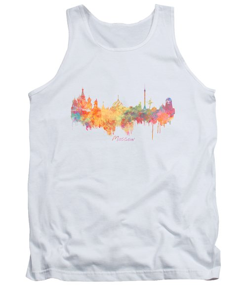 Moscow Russia Skyline City Tank Top