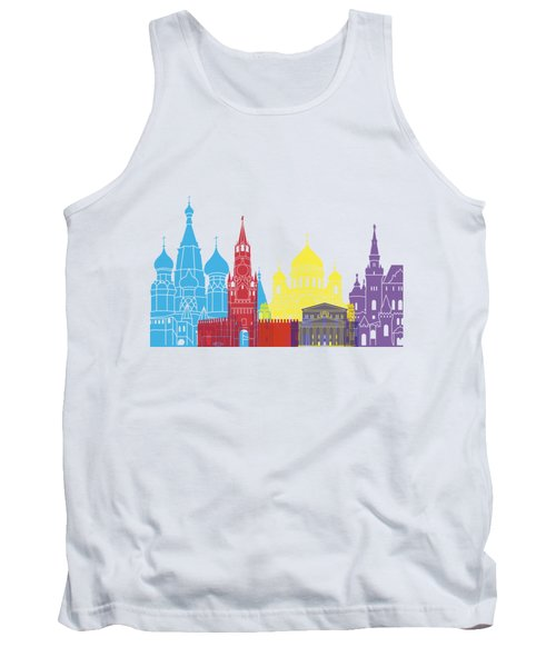 Moscow Skyline Pop Tank Top