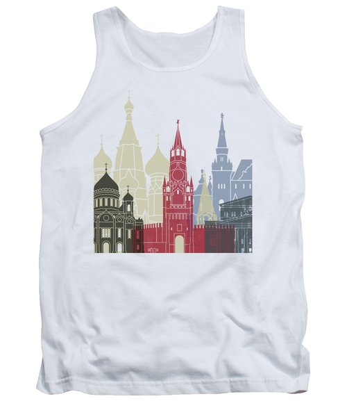 Moscow Skyline Poster Tank Top by Pablo Romero