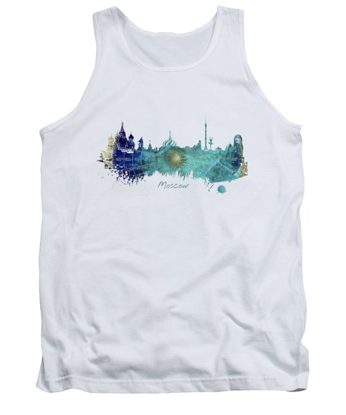 Moscow Skyline Wind Rose Tank Top