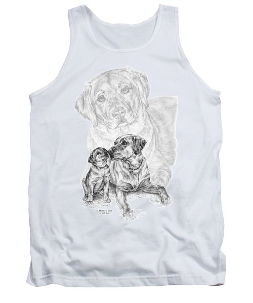 Mother Labrador Dog And Puppy Tank Top