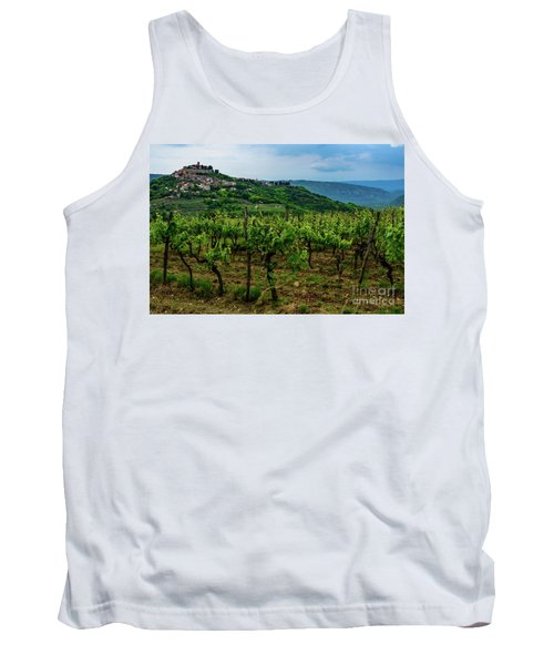 Motovun And Vineyards - Istrian Hill Town, Croatia Tank Top