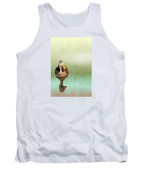 Mottled Duck Reflection Tank Top by Rosalie Scanlon
