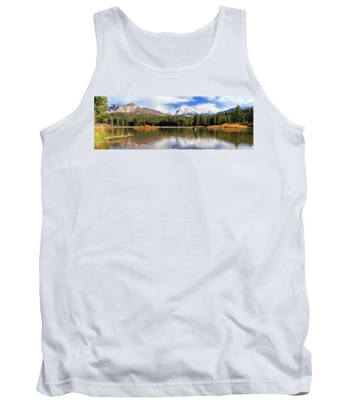 Tank Top featuring the photograph Mount Lassen Autumn Panorama by James Eddy