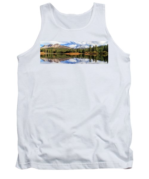Mount Lassen Reflections Panorama Tank Top