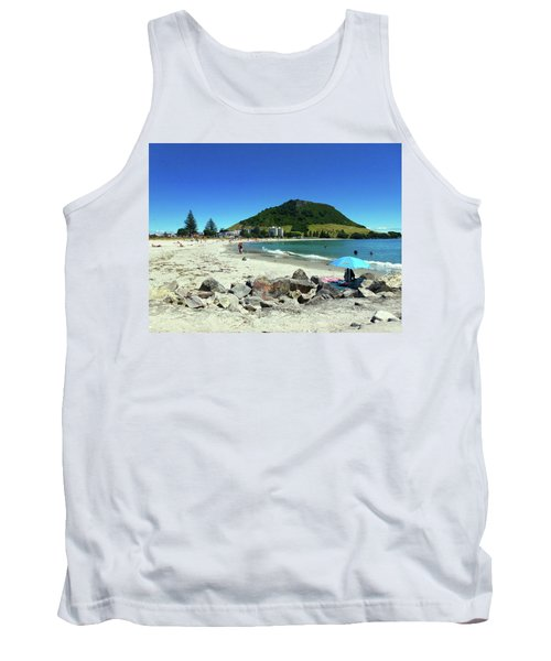 Mount Maunganui Beach 1 - Tauranga New Zealand Tank Top by Selena Boron