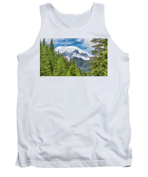 Tank Top featuring the photograph Mount Rainier View by Stephen Stookey