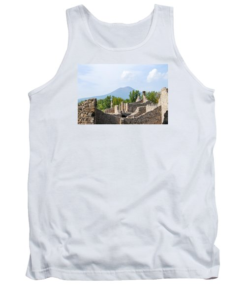 Mount Vesuvius Beyond The Ruins Of Pompei Tank Top by Allan Levin