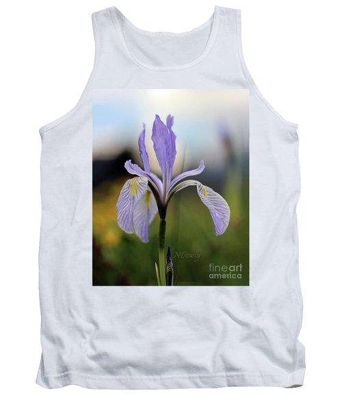 Mountain Iris With Bud Tank Top