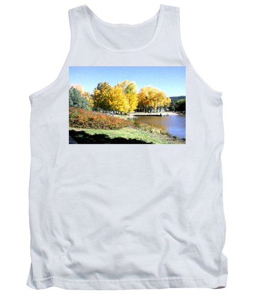 Mountain Lake Autumn Tank Top