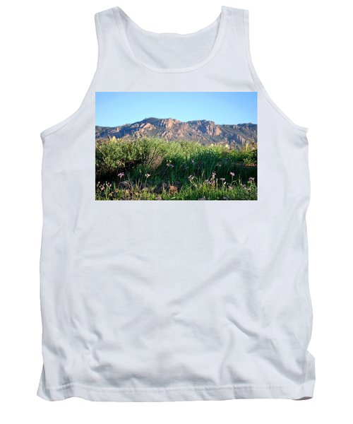 Tank Top featuring the photograph Mountain Landscape View - Purple Flowers by Matt Harang