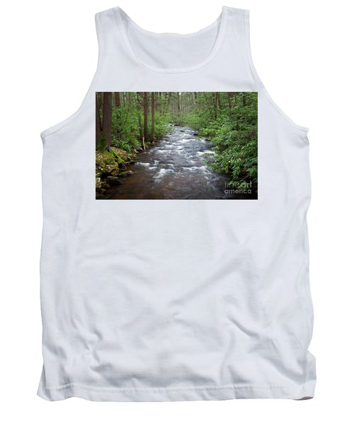 Tank Top featuring the photograph Mountain Stream Laurel by John Stephens