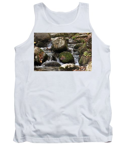 Mountain Stream Through Rocks Tank Top