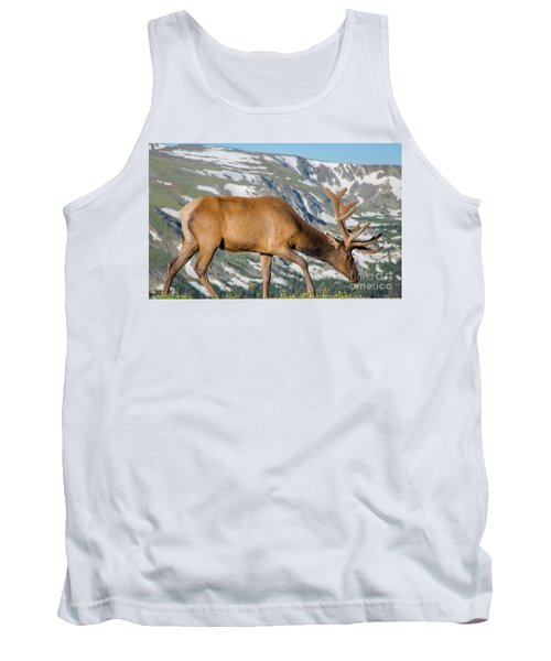 Mountain Top Elk Tank Top by John Roberts