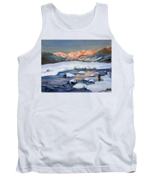 Mountain Winter Landscape 1 Tank Top