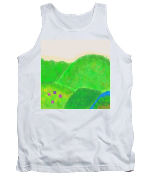 Mountains Of Land And Love Tank Top