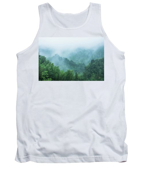 Mountains Scenery In The Mist Tank Top