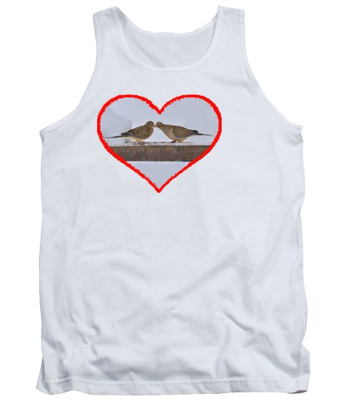 Mourning Doves Kissing Tank Top by Dan Friend