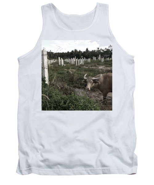 Mourning In The Palm-tree Graveyard Tank Top