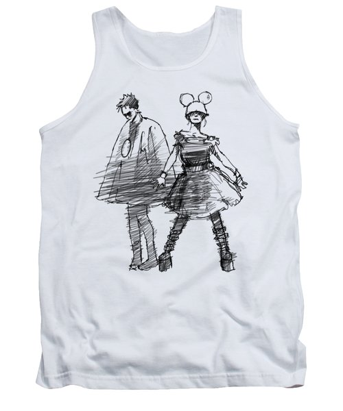 Mouse And Morse Tank Top by H James Hoff