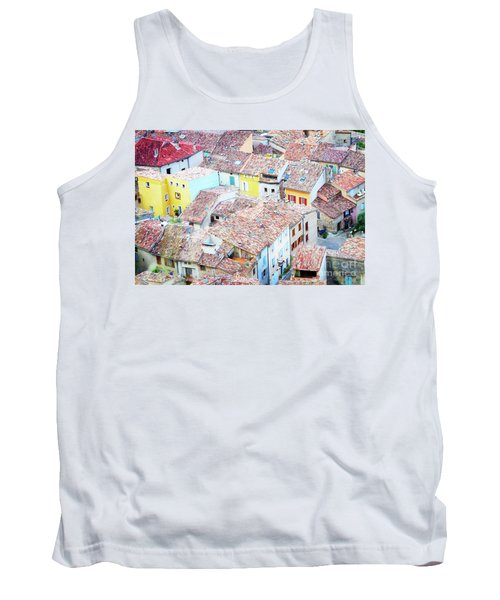 Moustiers Sainte Marie Roofs Tank Top by Anastasy Yarmolovich