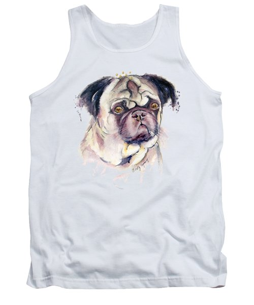 Mr Thinker Pug Watercolor Tank Top