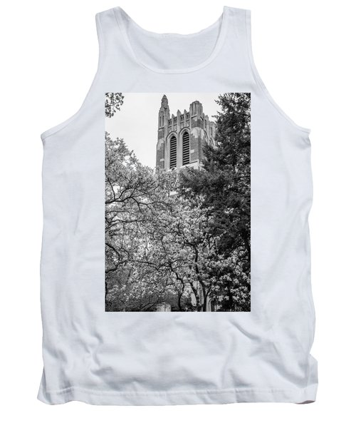 Msu Beaumont Tower Black And White 3 Tank Top