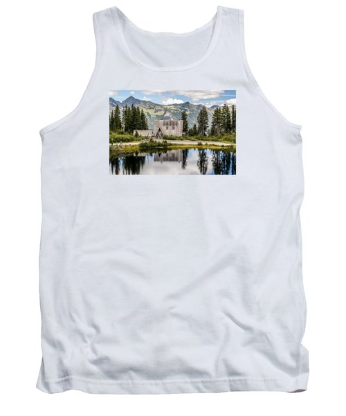 Mt Baker Lodge In Picture Lake 1 Tank Top