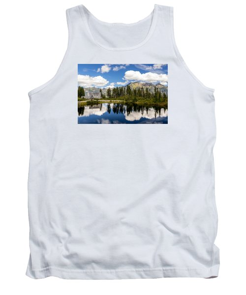 Mt Baker Lodge Reflection In Picture Lake 2 Tank Top