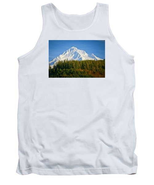 Mt Hood In Winter Tank Top