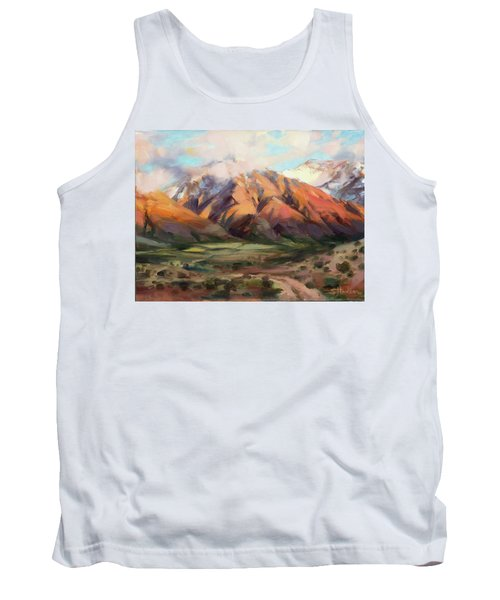 Tank Top featuring the painting Mt Nebo Range by Steve Henderson