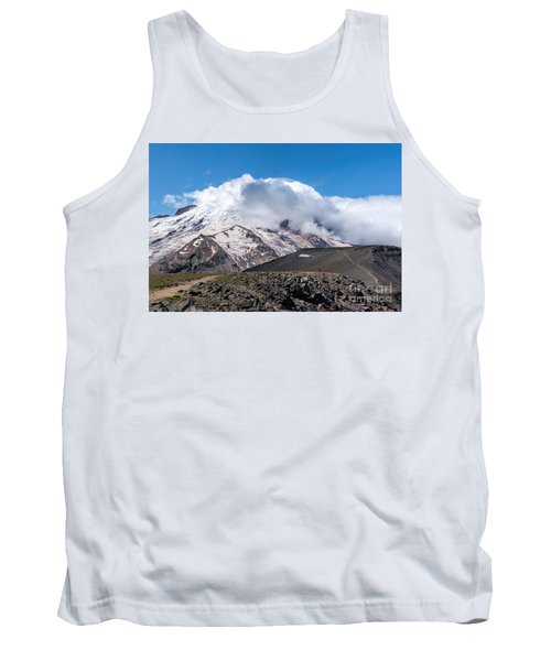 Mt Rainier In The Clouds Tank Top