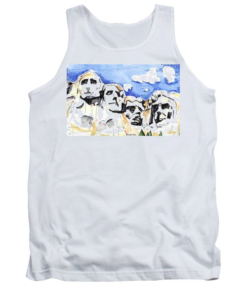 Tank Top featuring the painting Mt. Rushmore, Usa by Terry Banderas