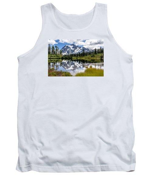 Mt Shuksan On Picture Lake 1 Tank Top