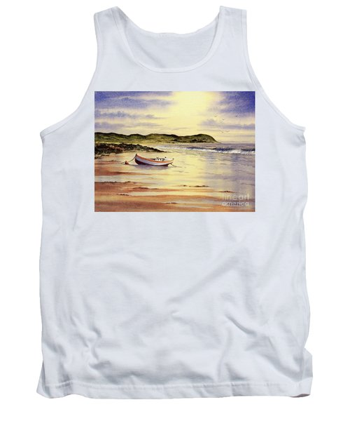 Tank Top featuring the painting Mull Of Kintyre Scotland by Bill Holkham