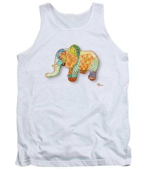 Multicolor Elephant Tank Top