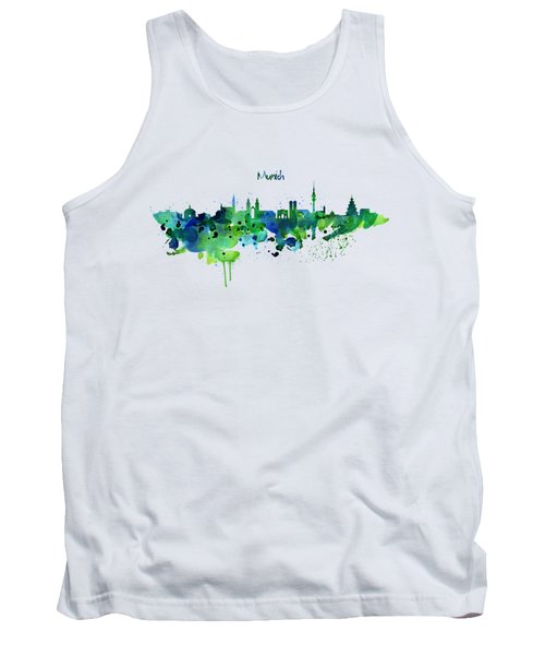 Munich Skyline Silhouette Tank Top