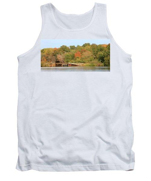 Tank Top featuring the photograph Murphy Mill Dam/bridge by Jerry Battle