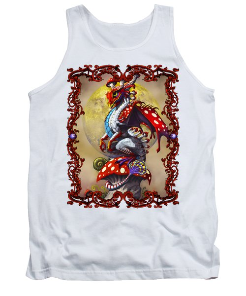 Tank Top featuring the digital art Mushroom Dragon T-shirts by Stanley Morrison