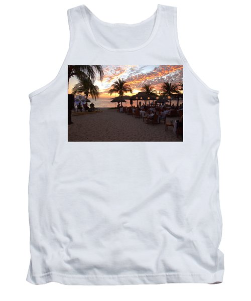 Music And Dining On The Beach Tank Top by Jim Walls PhotoArtist