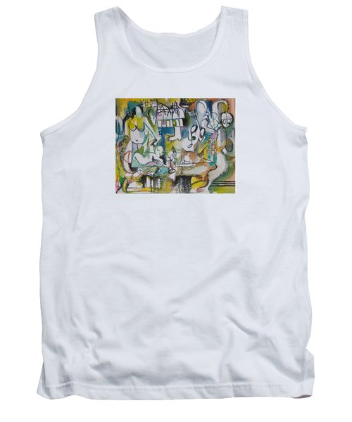 Musical Abstraction  Tank Top by Rita Fetisov