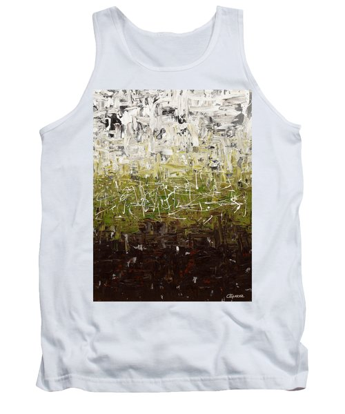 Tank Top featuring the painting Musing by Carmen Guedez