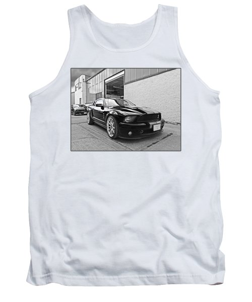 Mustang Alley In Black And White Tank Top