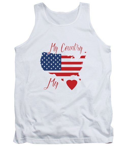 My Country My Heart Tank Top