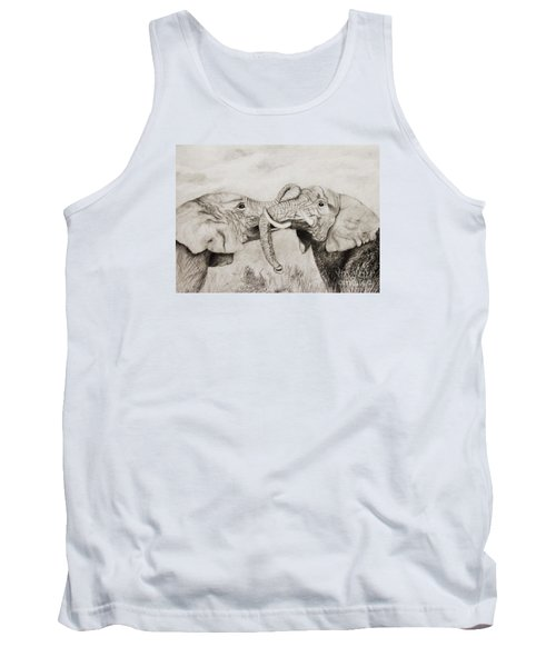 Tank Top featuring the drawing My Dad Is Bigger Than Your Dad by John Stuart Webbstock