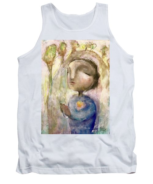 Tank Top featuring the mixed media My Faith by Eleatta Diver