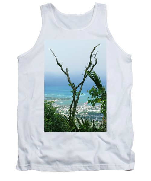 My Favorite Wishbone Between A Mountain And The Beach Tank Top by Heather Kirk